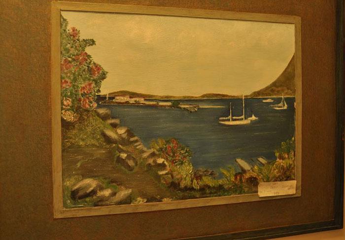 Trellis Bay - obraz Mabel Wagner. Mabel namalowała wiele pięknych obrazów o temtyce morskiej, wiele z nich zdobi dzis ich dom w Winter Park