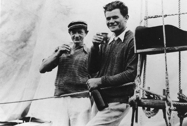 5 listopada 1937. Obaj Władkowie, Wagner i Kondratowicz -  nareszcie w Sydney.