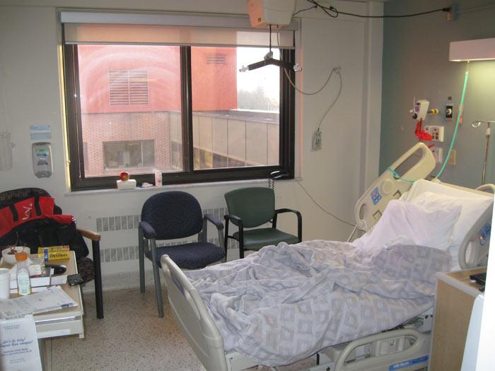 Puste lozko szpitalne